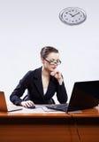 bizneswomanów laptopy dwa Zdjęcie Stock