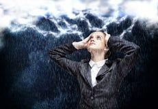 Bizneswomanów okładzinowi problemy Zdjęcie Stock