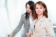 bizneswomanów pisać Obrazy Stock