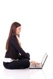 bizneswomanów pisać na maszynie Obraz Stock