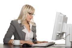 bizneswomanów potomstwa komputerowi pomyślni Obrazy Royalty Free