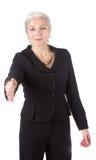 bizneswomanów ręki seniora potrząśnięcia Zdjęcia Royalty Free