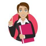 Bizneswomanów utrzymań kartoteka w okręgu Obrazy Stock