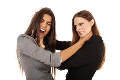 Bizneswomanów walczyć Zdjęcia Royalty Free