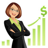 Bizneswoman royalty ilustracja