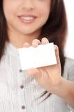 bizneswoman biznesowa karta fotografia royalty free