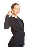 Bizneswoman daje domów kluczom Zdjęcie Stock