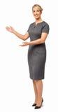 Bizneswoman Daje prezentaci Na bielu Zdjęcia Royalty Free