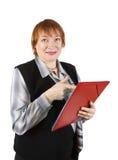 bizneswoman dokumentuje seniora Zdjęcia Royalty Free
