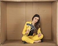 Bizneswoman dosięga out dla pomocy Obraz Stock