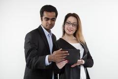 Bizneswoman i biznesmen obrazy royalty free