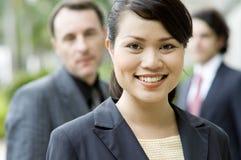 Bizneswoman i Drużyna Fotografia Royalty Free