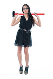 Bizneswoman i jej hummer Obraz Royalty Free