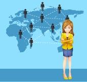 Bizneswoman i ludzie dookoła świata ilustracji