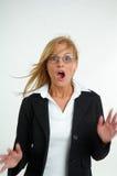 Bizneswoman i strach fotografia royalty free