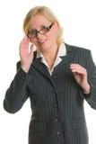 Bizneswoman i szkła zdjęcie royalty free
