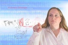 Bizneswoman i technologia Zdjęcia Stock