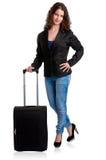 Bizneswoman i walizka Fotografia Royalty Free
