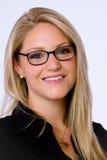 bizneswoman kamera uśmiecha się potomstwa Fotografia Royalty Free