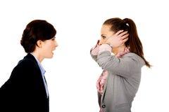 Bizneswoman krzyczy na jej partnerze Zdjęcie Royalty Free