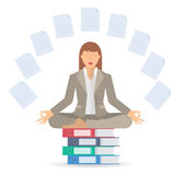 Bizneswoman medytaci b ilustracji