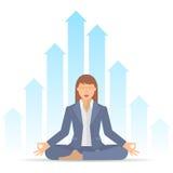 Bizneswoman medytacja C ilustracji