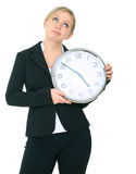 bizneswoman może dostawać z t target703_0_ pracę Obraz Royalty Free