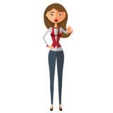 Bizneswoman motywaci kreskówki wektoru płaska ilustracja EPS10 pojedynczy białe tło Zdjęcia Stock