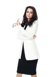 Bizneswoman na białym tle Obraz Royalty Free