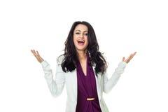 Bizneswoman na białym tle Fotografia Royalty Free