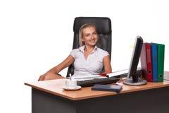 Bizneswoman na miejscu pracy Obrazy Royalty Free