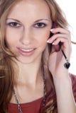Bizneswoman na telefonie Obraz Royalty Free