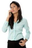 Bizneswoman Na Telefonie zdjęcie royalty free