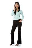 Bizneswoman Na Telefonie zdjęcia stock