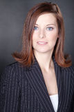 Bizneswoman na tle Fotografia Stock
