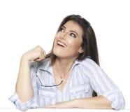 Bizneswoman odizolowywający na białym tle Obrazy Royalty Free