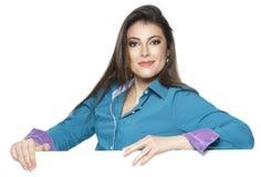 Bizneswoman odizolowywający na białym tle Obrazy Stock