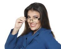 Bizneswoman odizolowywający na białym tle Obraz Stock