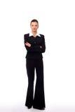 bizneswoman odizolowywający Obraz Stock