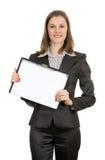 bizneswoman odizolowywający ja target705_0_ biel Fotografia Stock