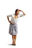 Bizneswoman patrzeje naprzód Fotografia Stock