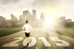Bizneswoman patrzeje przyszłość Fotografia Stock