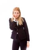 Bizneswoman patrzeje rozczarowywający fotografia stock