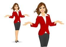 bizneswoman pokazywać coś ilustracji