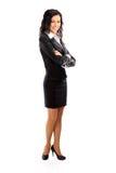 Bizneswoman portret folująca długość Zdjęcie Stock
