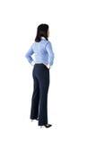 Bizneswoman pozycja z rękami na biodrach Obraz Stock