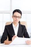 Bizneswoman przy pracą. Fotografia Royalty Free