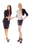 bizneswoman ręki trząść dwa Fotografia Stock