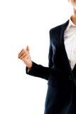 Bizneswoman robi pięści Zdjęcie Stock