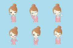 Bizneswoman robi rozmaitości wyrażenia ilustracja wektor